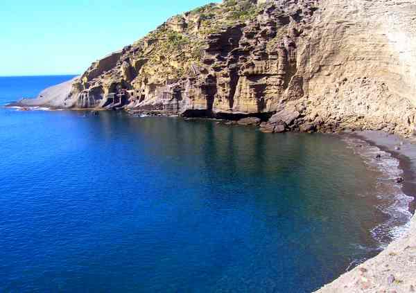 Aeolian Islands Pollara Beach in Salina