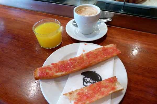 Breakfast in Spain