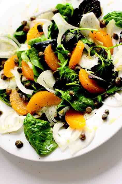 fennel, orange and caper salad
