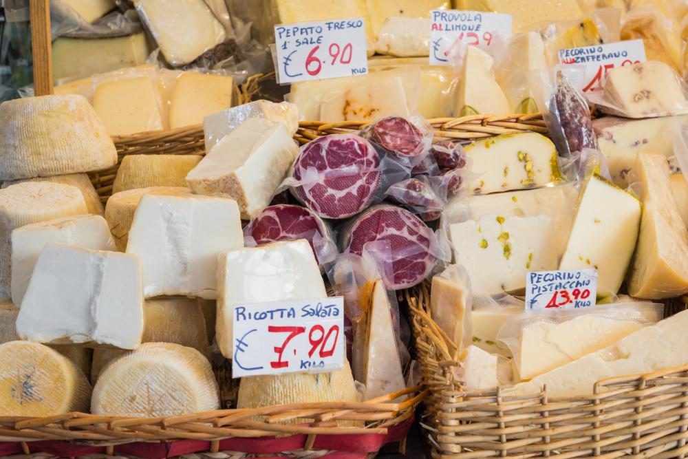 Sicily Cheeses Market Stall Catina