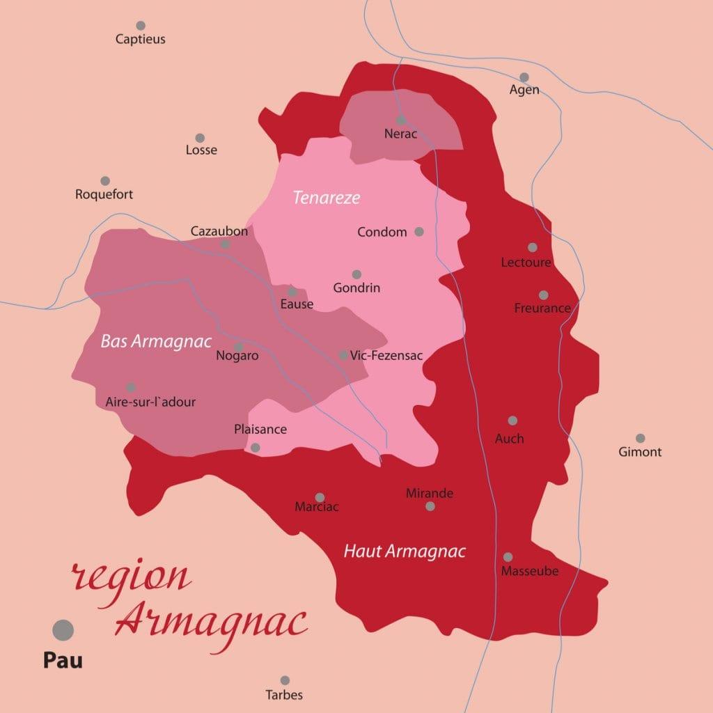 Armagnac map