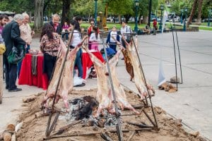 Barbecue of a lamb
