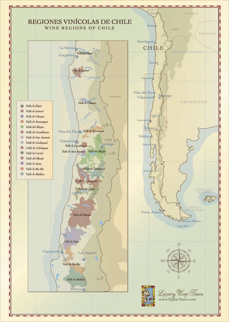 Chilean Wine Region Map