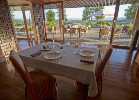 Views of the vineyards from your room in Casa Lapostolle
