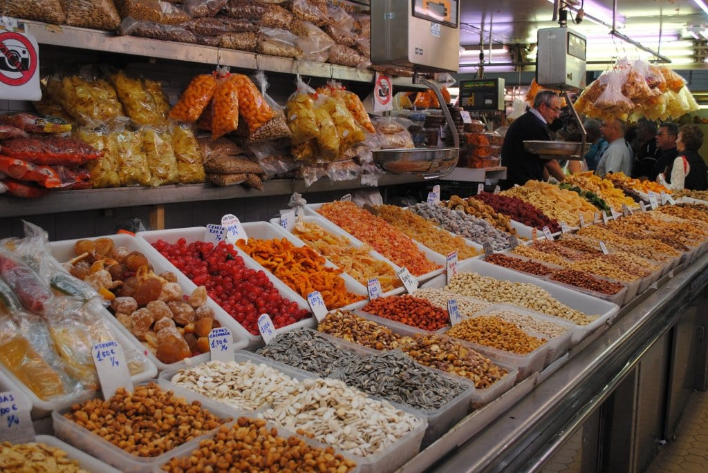 Colorful market stall, Spain