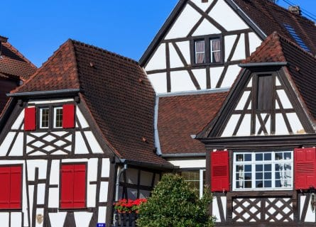 Colorful houses in Obernai