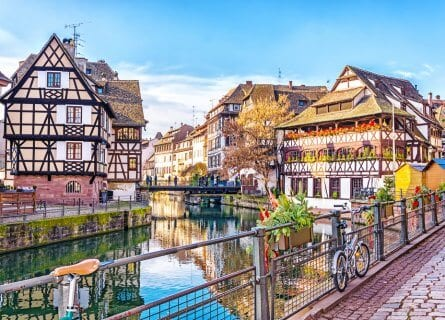 La Petite France in the medieval fairytale town of Strasbourg