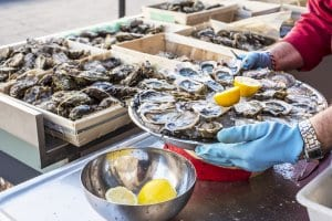 Oysters from nearby Arcachon