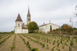 Church in vineyard, Pommerol