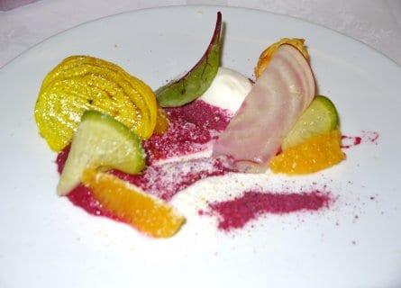 Michelin Starred dishes, La Tour in Sancerre