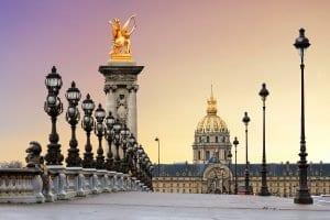 The beautiful Pont Alexandre III bridge