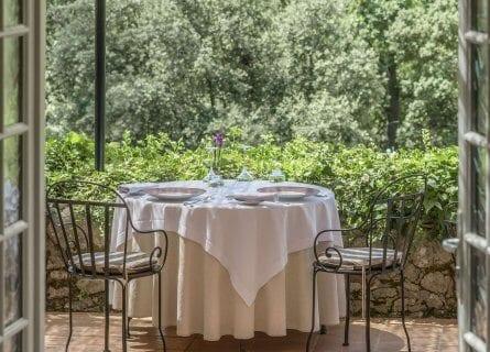 Dine alfresco at the amazing Le Relais des Moines