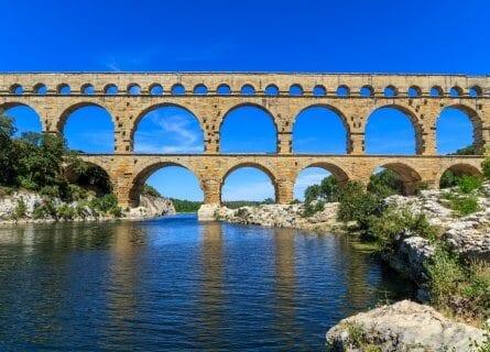 Roman Aquaduct, Pont du Gard, Nimes