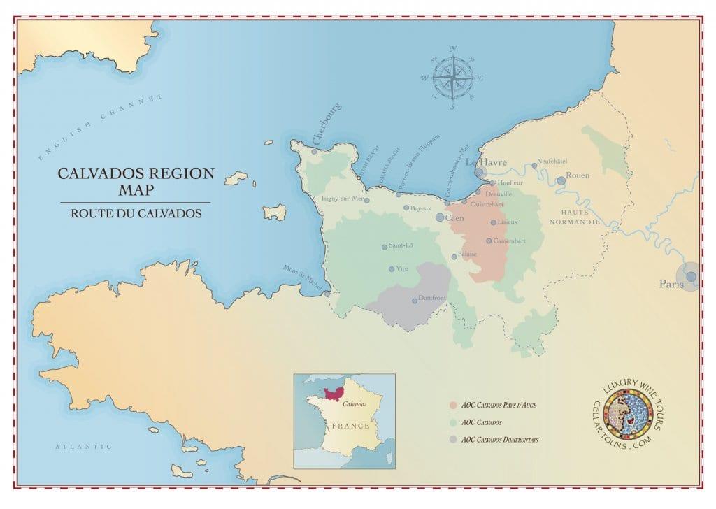 Calvados Region Map