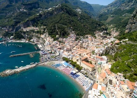 Aerial view of Amalfi Coastline