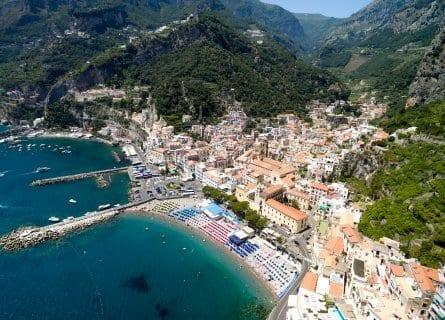 Aerial view of Amalfi Coastline