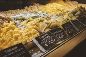 Fresh pasta, sold by weight