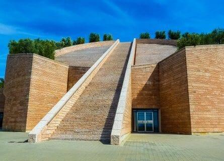 Mario Botta designed winery, Petra