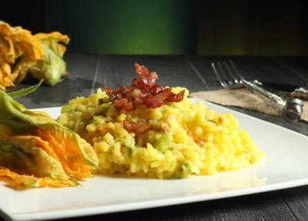 Risotto with Zucchini flowers