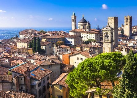 beautiful medieval town Bergamo