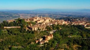 montepulciano - montepulciano-village-aerial
