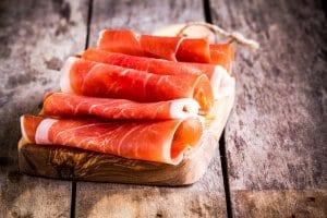 Prosciutto cured ham