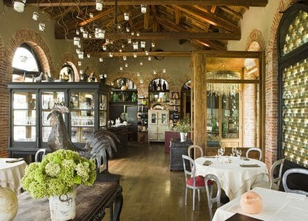 The wonderful restaurant in Villa Sparina