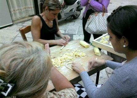local women making-pasta-bari