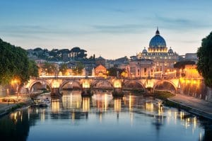 Ponte Sant Angelo and St. Peter