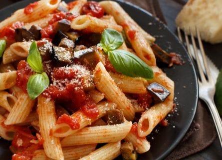 Delicious pasta alla norma