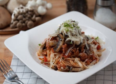 Pici pasta with a duck ragu