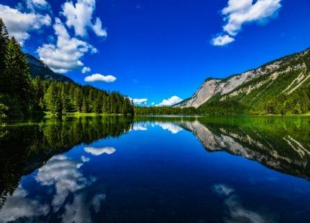 Tovel Lake in Trentino, Parco Adamello Brenta