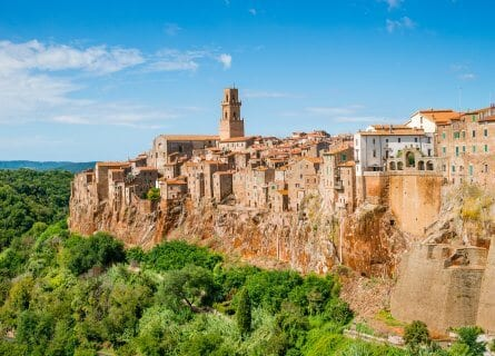 The stunning medieval town of Pitigliano