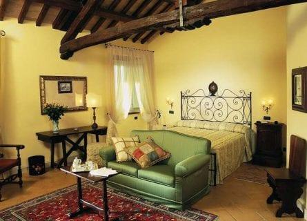 Bedroom in luxury Palace Hotel, Spoleto