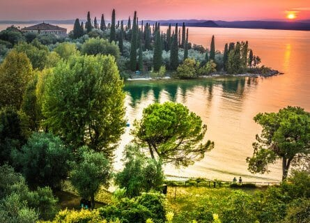 Lake Garda, at sunset