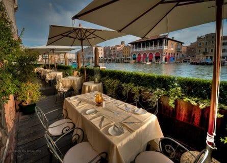 Dine alfresco at your luxury hotel
