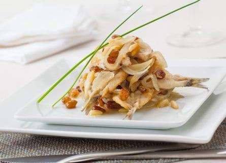 Delicious prepared Sarde in Saor in private cooking class