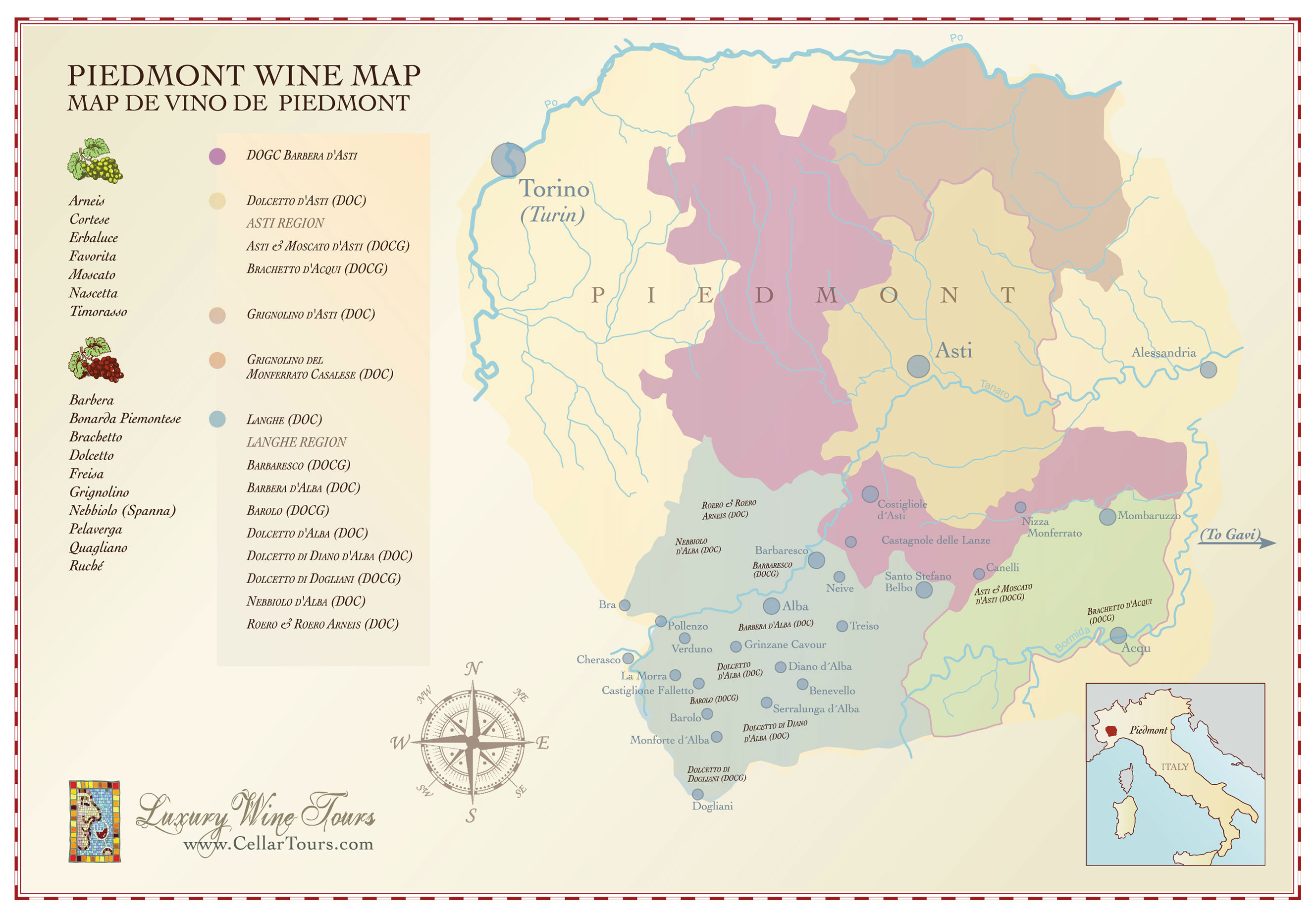 an introduction to the piedmont wine region in italy See a map of northern italy's piemonte region showing the the piemonte, or piedmont region see the food and wine of the piemonte for an introduction to.