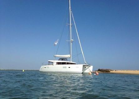 Private catamaran boat