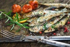 sardinhas grelhadas, grilled sardines