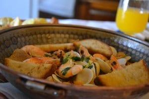 Cataplana do Porco Negro (shrimp dish)