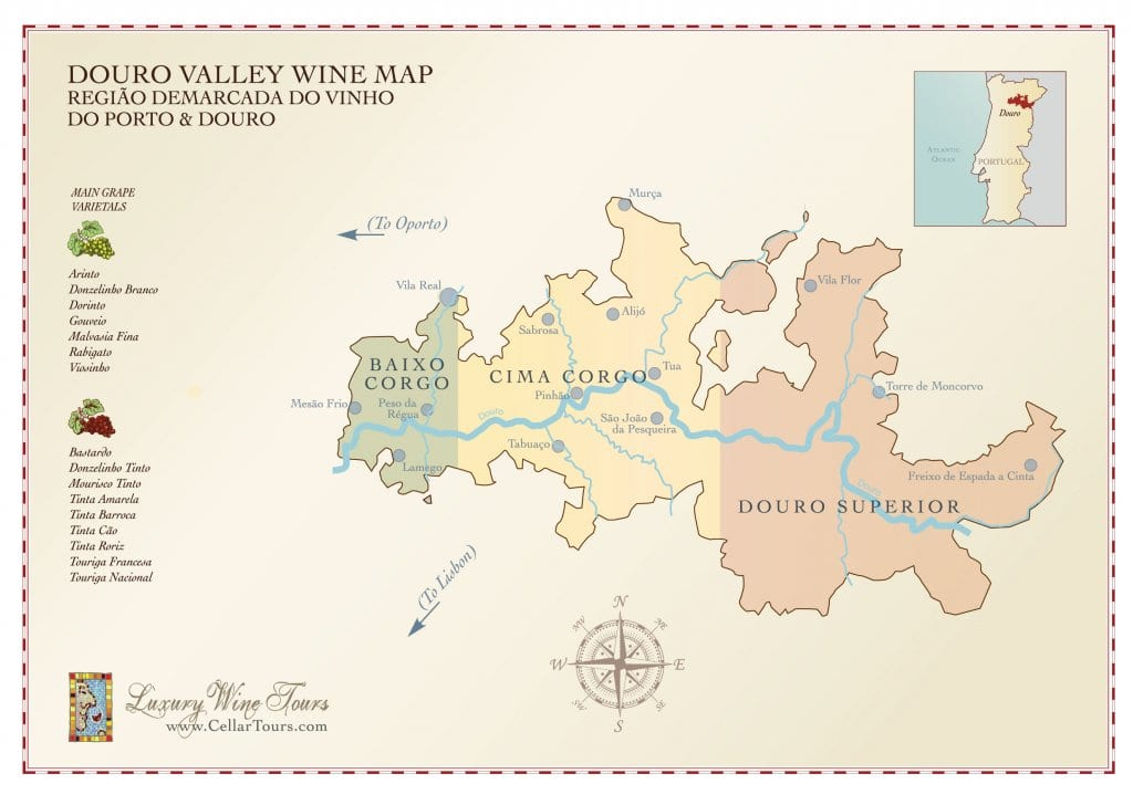 Douro Valley Wine Region Map