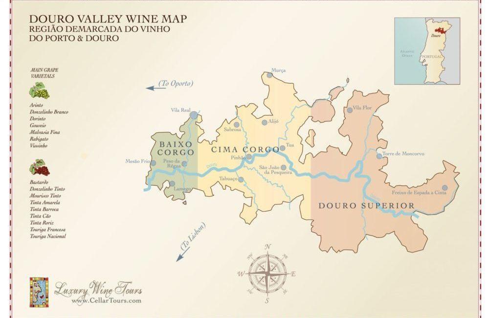 Douro Valley Wine Region Map