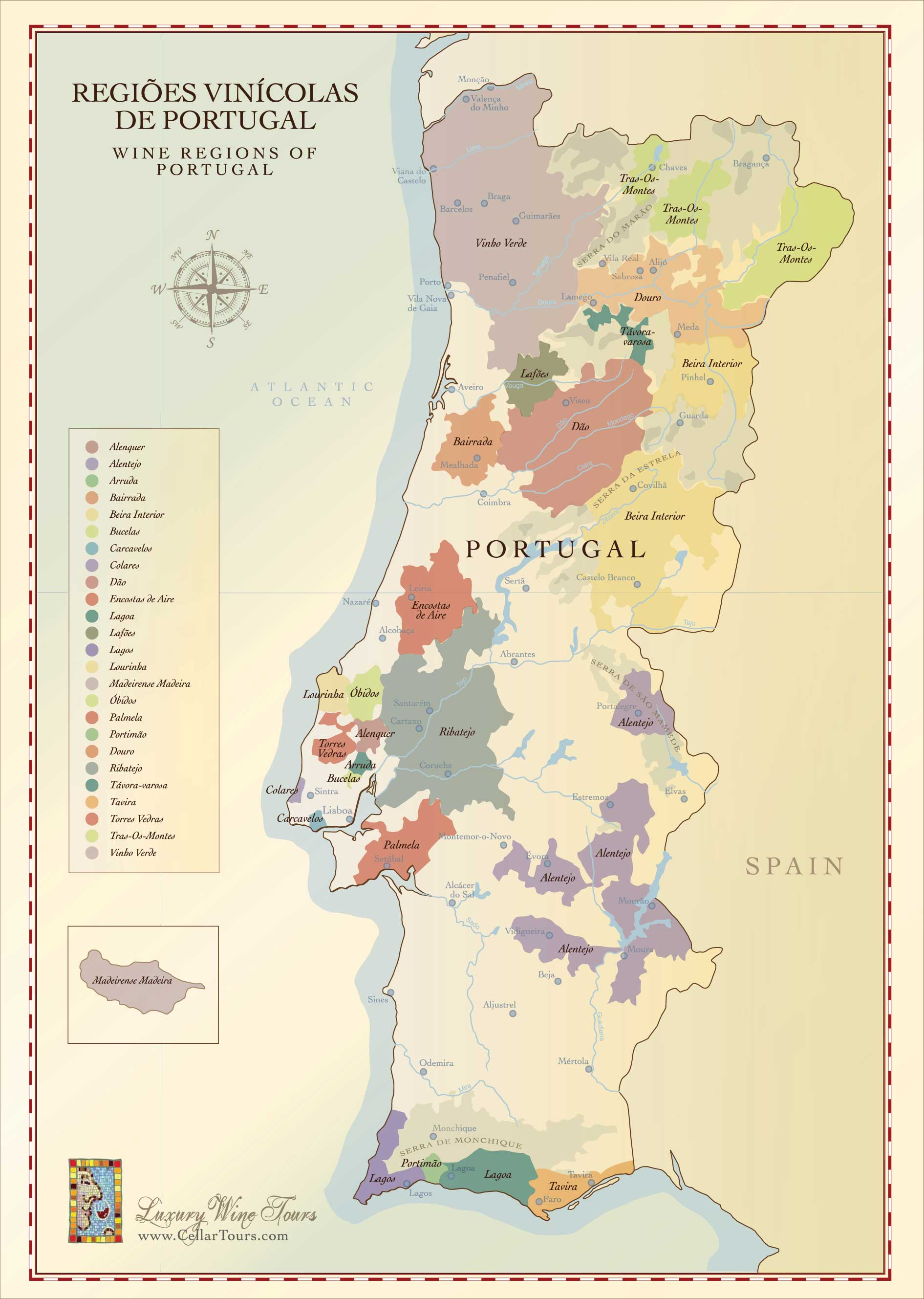 Portuguese Wine Region Map