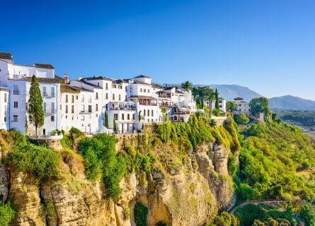 Ronda cityscape on the Tajo Gorge.