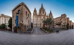 Cathedral of the Holy Cross and Saint Eulalia in the Morning, Barri Gothic Quarter