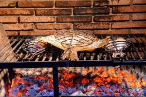 Fish on grill, Getaria