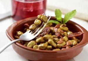Habas con jamon, green beans w/ ham