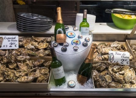 Oysters and Cava at the Mercado San Miguel
