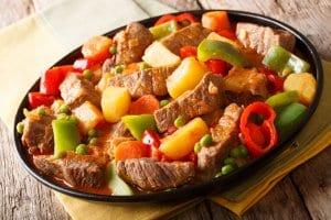 Caldereta, meat dish